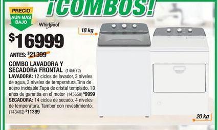 Oferta de Lavadoras Whirlpool por $16999