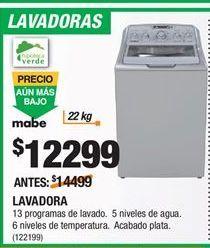 Oferta de Lavadoras Mabe por $12299
