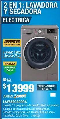 Oferta de Lavadora secadora LG por $13999