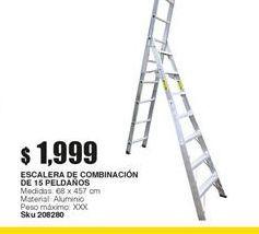 Oferta de Escalera de aluminio por $1999