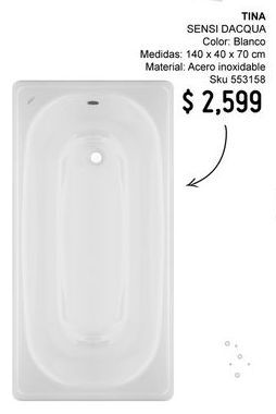 Oferta de Tina de baño por $2599