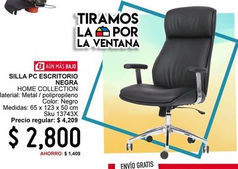 Oferta de Silla de oficina Home Collection por $2800