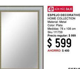Oferta de Espejo Home Collection por $599