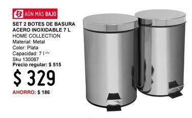 Oferta de Bote de basura baño Home Collection por $329