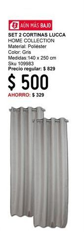 Oferta de Cortinas Home Collection por $500