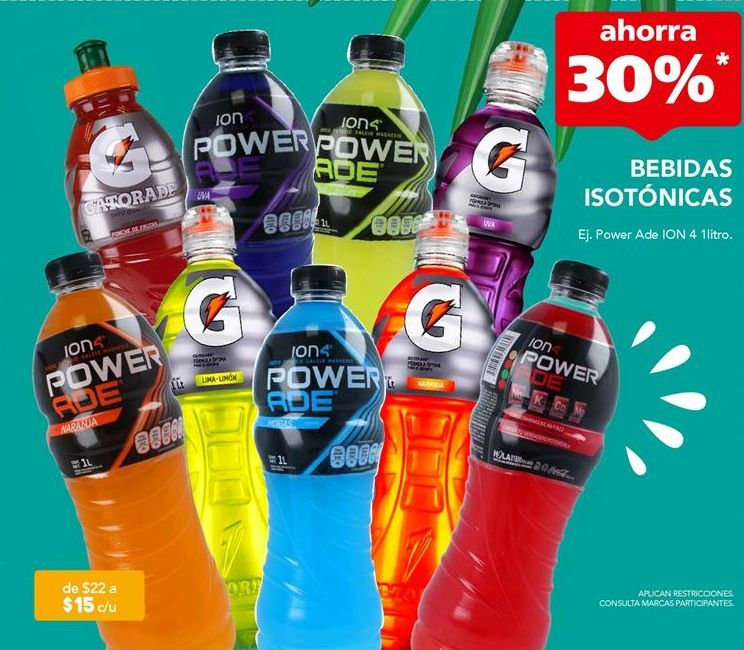 Oferta de Bebida isotónica Power Ade por $15