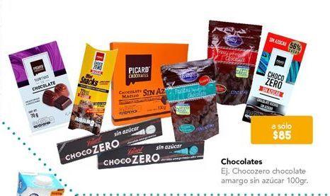 Oferta de Chocolate sin azúcar por $85