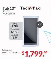 Oferta de Tablet Android Techpad por $1799