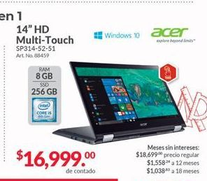 Oferta de Laptop Acer por $16999