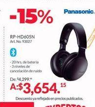 Oferta de Audifonos bluetooth Panasonic por $3654.15