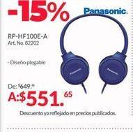Oferta de Audífonos Panasonic por $551.65