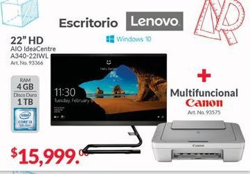 Oferta de All in One Lenovo por $15999