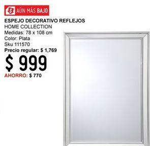 Oferta de Espejo Home Collection por $999