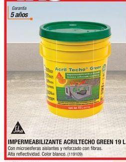 Oferta de Impermeablizante Acriltecho Green 19L por