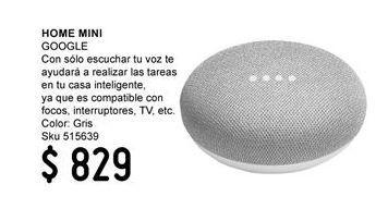 Oferta de Home Mini Google por $829