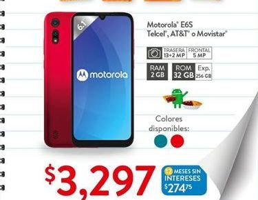 Oferta de Celulares Motorola por $3297