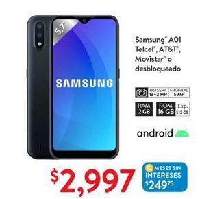 Oferta de Samsung A01 Telcel, AT&T, Movistar o desbloqueado por $2997