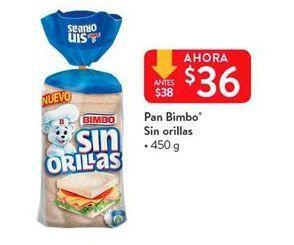 Oferta de Pan de molde Bimbo por $36