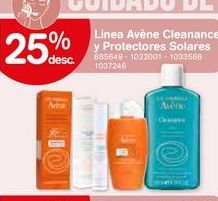 Oferta de Linea Avéne Cleanance y Protectores solares por