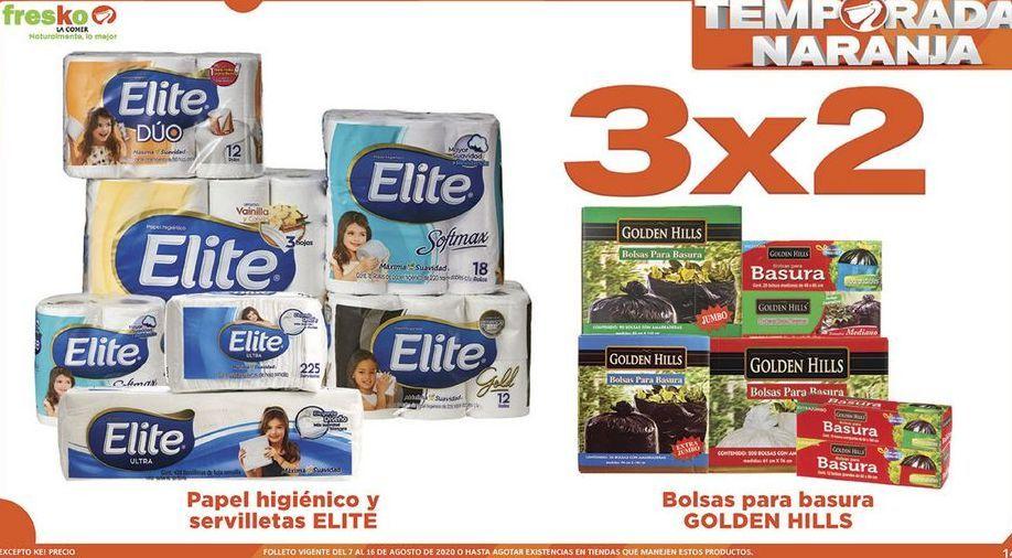 Oferta de Papel Higiénico y servilletas Elite 3x2 por