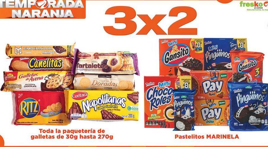 Oferta de Toda la paquetería de galletas de 30g hasta 270g 3x2 por