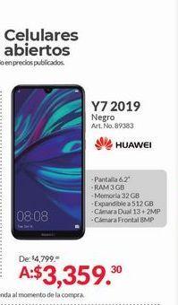 Oferta de Celulares Huawei Y7 2019 por $3359.3
