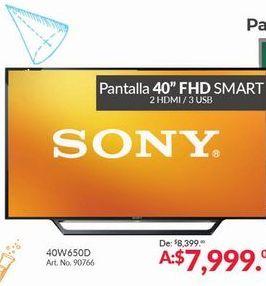 Oferta de Smart FHD tv led 40'' Sony por $7999