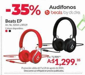 Oferta de Audífonos Beats por $1299.35