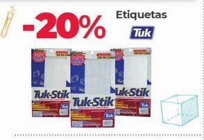 Oferta de Etiquetas Tuk -20% por