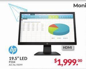 "Oferta de Monitor 19,5"" led HP por $1999"