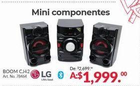 Oferta de Mini Componentes LG por $1999