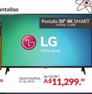 Oferta de Smart tv led 50'' LG por $11299