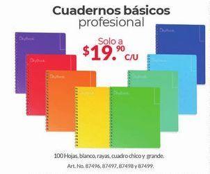 Oferta de Cuadernos Básicos Profesional por $19.9