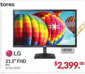 "Oferta de Monitor led LG 21,5"" FHD por $2399"