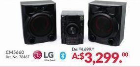 Oferta de Sistema de sonido LG por $3299