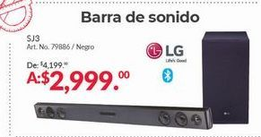 Oferta de Barra De Sonido LG por $2999