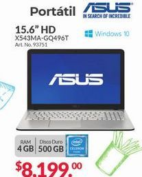 "Oferta de Portátil Asus 15,6"" HD por $8199"