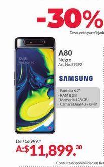 Oferta de A80 Samsung por $11899.3