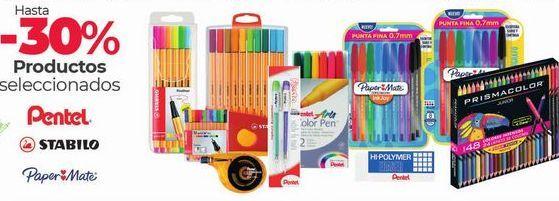 Oferta de Hasta -30 productos seleccionados pentel. Stabilo, Paper&Mate por
