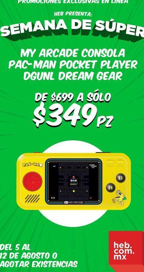 Oferta de My Arcade Consola Pac-Man Pocket Player Dgunl Dream Gear por $349
