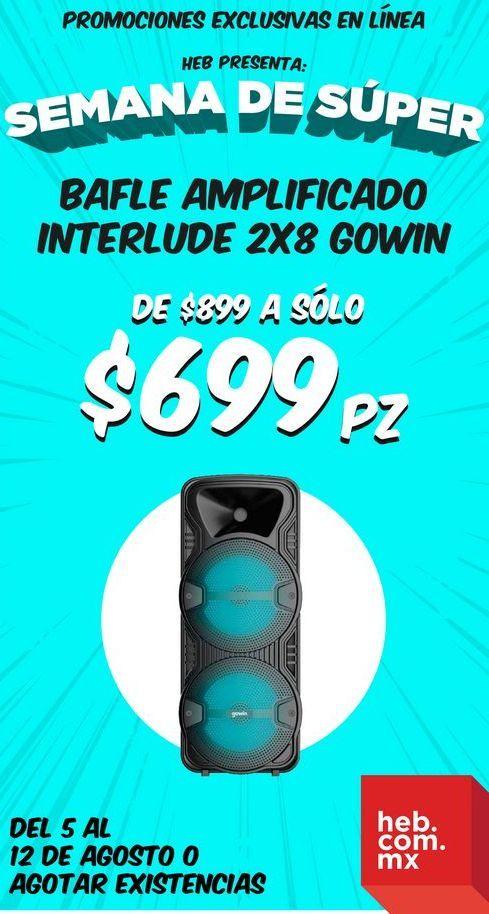 Oferta de Bafle Amplificado Interlude 2x8 Gowin por $699