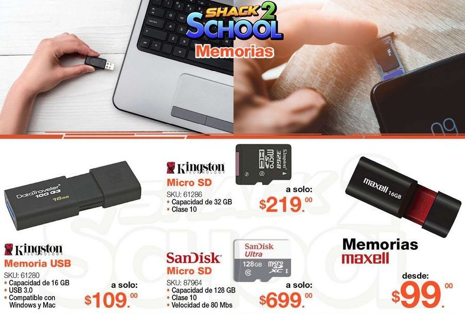 Oferta de Memoria USB Kingston por $109