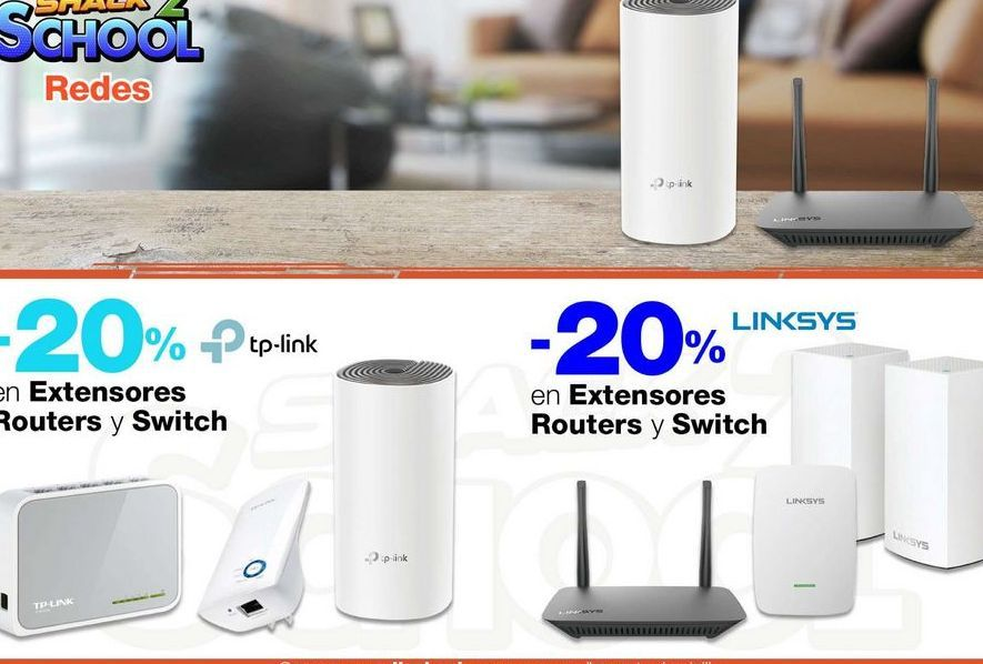 Oferta de Extensores Routers y Switch por