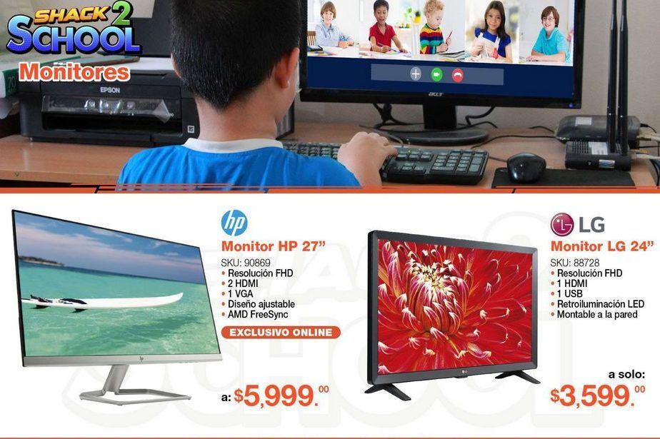"Oferta de Monitor HP 27"" por $5999"