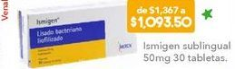 Oferta de Ismigen Sublingual 50mg 30 tabletas por $1093.5