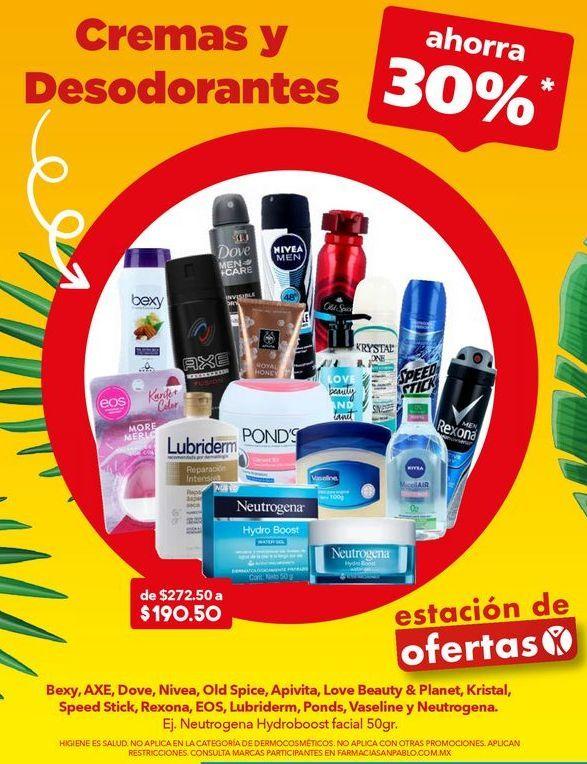 Oferta de Cremas Y Desodorantes ahorra 30% por
