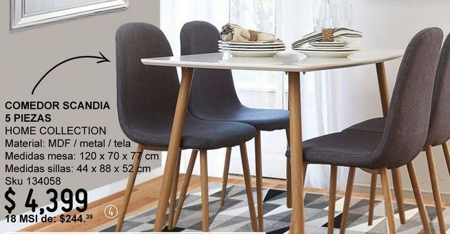 Oferta de Comedores Home Collection por $4399
