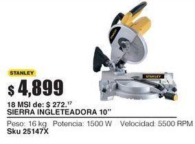 Oferta de Sierra ingletadora Stanley por $4899