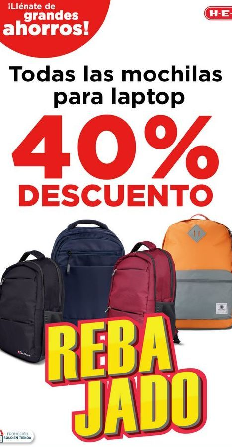 Oferta de Todas Las Mochilas para laptop 40% Descuento por