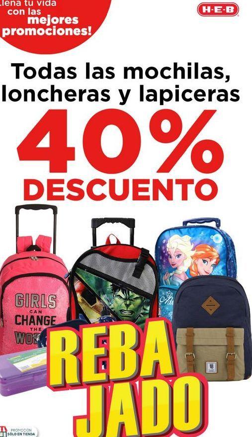 Oferta de Todas las mochilas loncheras y lapiceras por